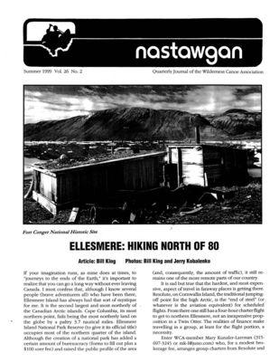 Nastawgan (Richmond Hill, ON: Wilderness Canoe Association), Summer 1999