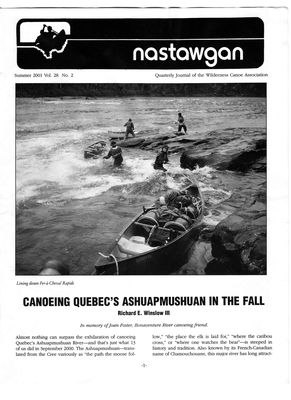 Nastawgan (Richmond Hill, ON: Wilderness Canoe Association), 1 Jun 2001