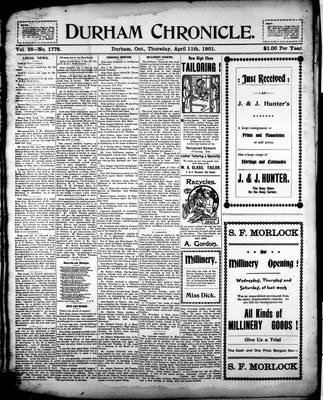 Durham Chronicle (1867), 11 Apr 1901