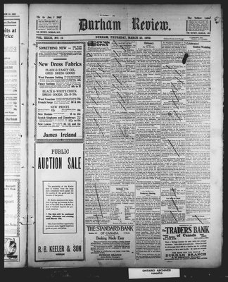 Durham Review (1897), 25 Mar 1909