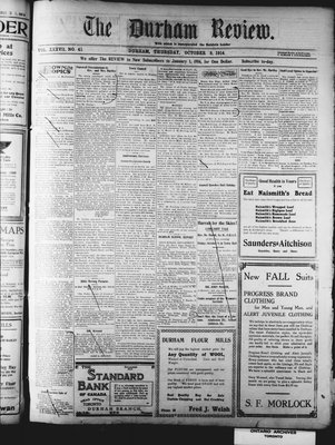 Durham Review (1897), 8 Oct 1914
