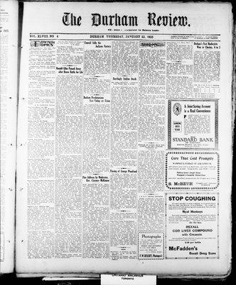 Durham Review (1897), 22 Jan 1925