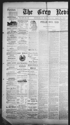 Grey Review, 9 Aug 1894