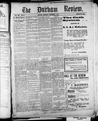 Durham Review (1897), 1 Sep 1898