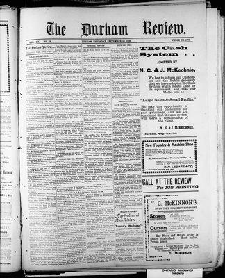 Durham Review (1897), 22 Sep 1898
