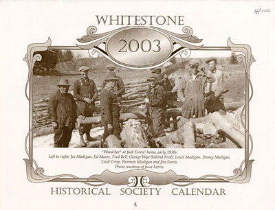 Whitestone Historical Society Calender - 2003