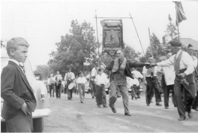 Loyal Orange Lodge Parade, Dunchurch, June 12, 1958