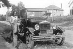 Gordon Powell Next to a 1926 Model-T, Dunchurch, 1926
