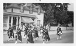 Bagpipe Band Marching in the Loyal Orange Lodge, Dunchurch,  July 12th, 1958