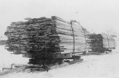 Shipping Lumber by Sleigh, Dunchurch, circa 1920