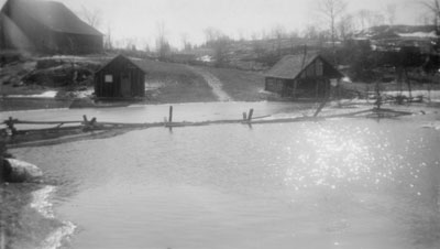 Magnetawan and Deer River Flood at the Mcammond Farm, 1922