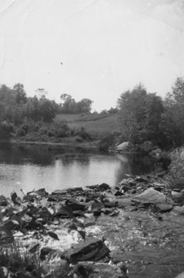Deer River Flowing Over Rocks at the McAmmond Farm