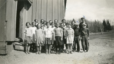 Class Photo, Maple Island School, circa 1940
