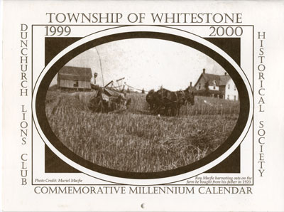 Whitestone Historical Society Calender - 1999 & 2000