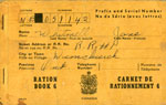 Jane Whitmell's Ration Book, 1940