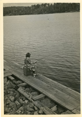 Woman Fishing at Karbehuwe Dock