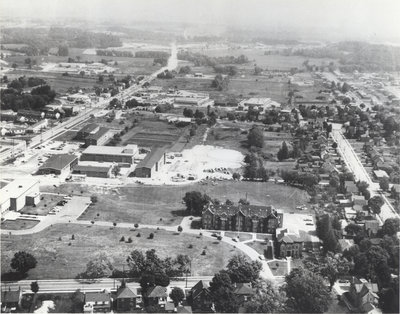 Aerial view of Waterloo College, 1962