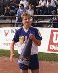 Wilfrid Laurier University cheerleader, 2000