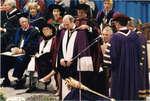Thomas Paul d'Aquino at spring convocation 2002, Wilfrid Laurier University