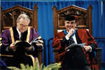 Robert Rosehart and Rowland Smith at spring convocation 2002
