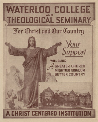 Waterloo College and theological seminary : for Christ and our country