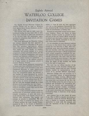 Waterloo College Invitation Games, 1947