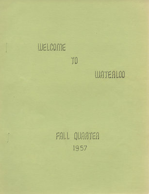 Welcome to Waterloo fall quarter, 1957
