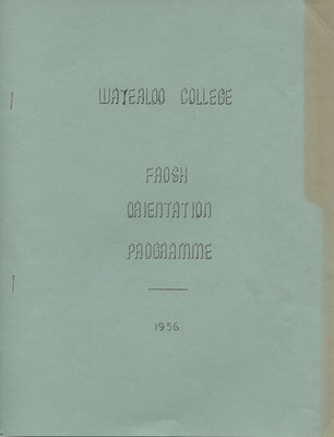 Waterloo College frosh orientation Programme, 1956