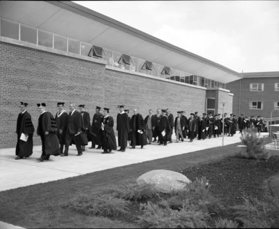 Waterloo Lutheran University spring convocation 1963 procession