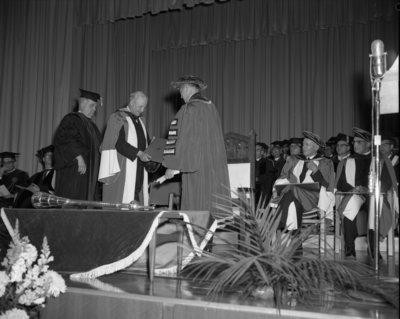 Waterloo Lutheran University spring convocation 1963