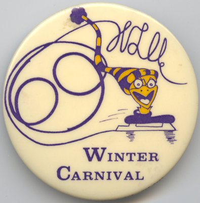 Waterloo Lutheran University 1969 Winter Carnival button
