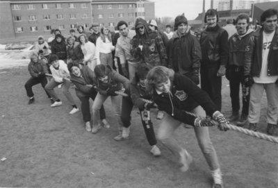 Tug-of-war at Winter Carnival 1989