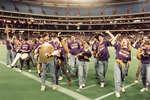 Wilfrid Laurier University spirit band at Vanier Cup 1991