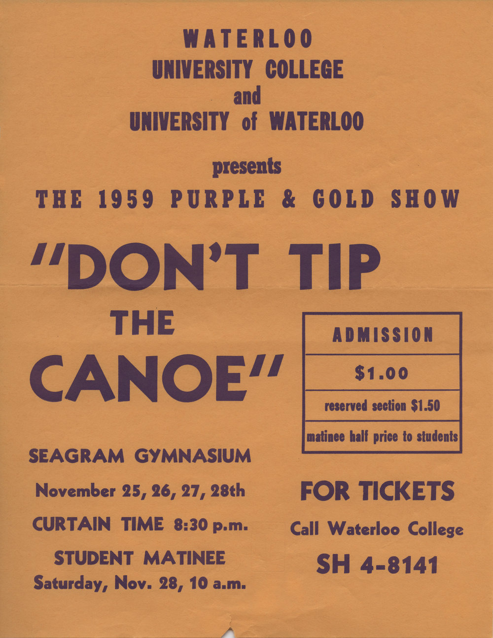 1959 Purple and Gold show