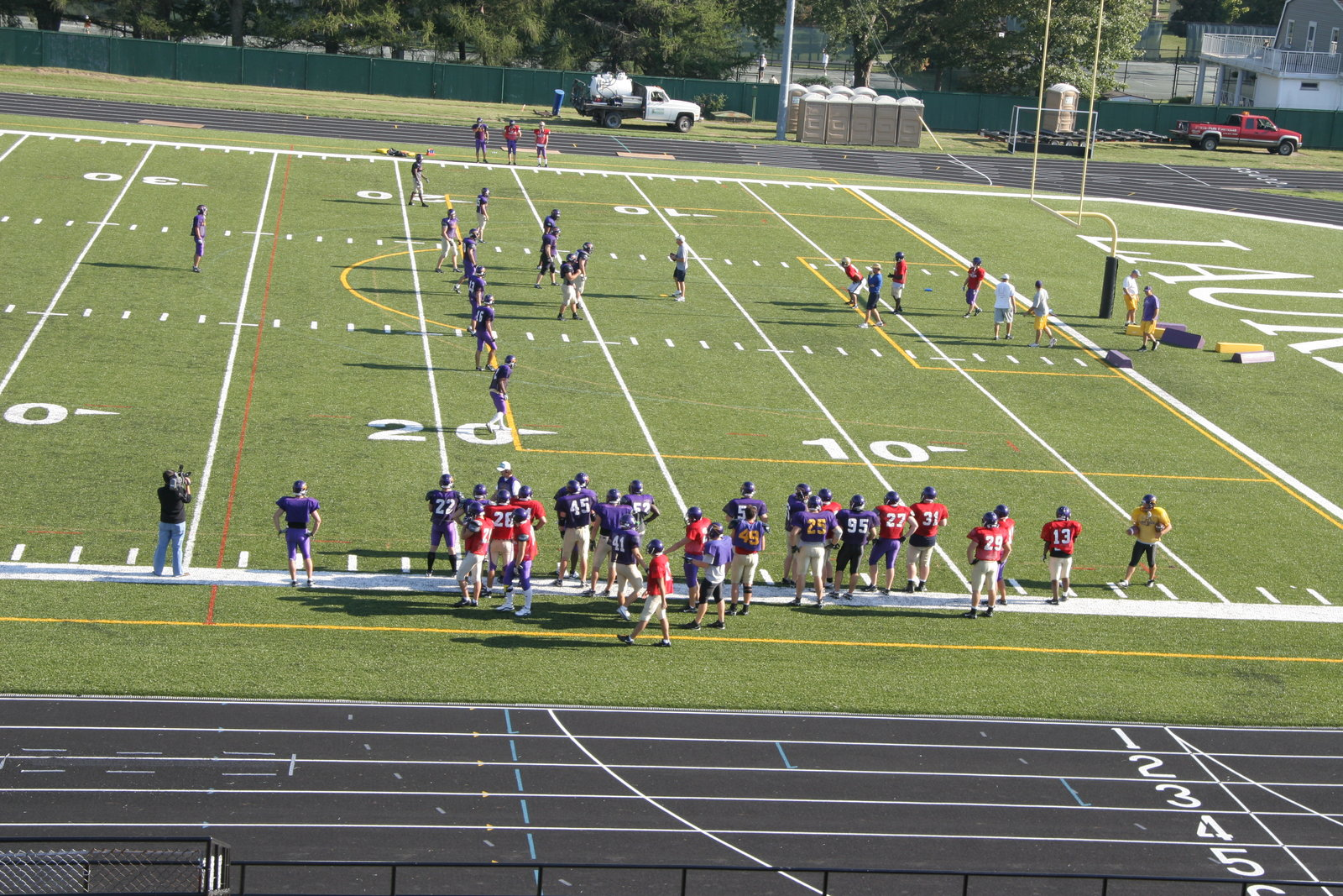 Wilfrid Laurier University Football Team Practicing At