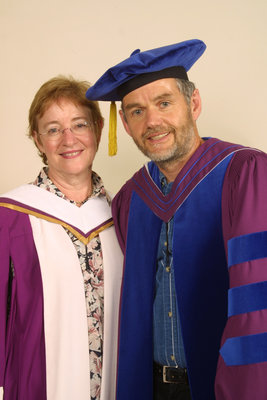 Maude Barlow and Leo Groarke at Laurier Brantford spring convocation 2004
