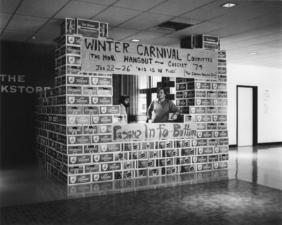 Winter Carnival 1974 information booth