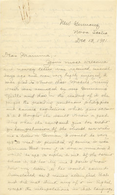 Letter from C. H. Little to Candace Little, December 13, 1901