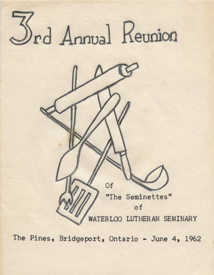 Seminette Club third annual reunion program, 1962