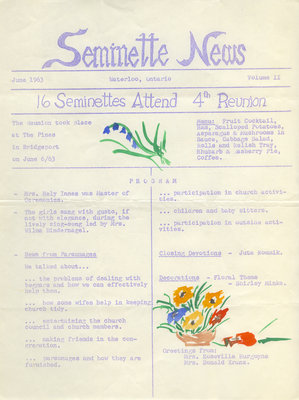 Seminette news, vol. 2, June 1963