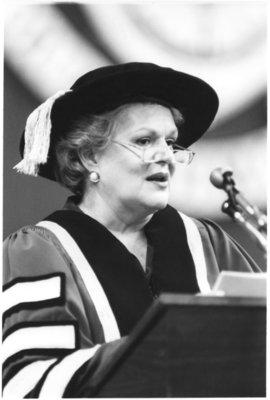 Maureen Forrester at Wilfrid Laurier University spring convocation 1986