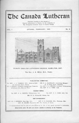 The Canada Lutheran, vol. 1, no. 8, February 1913