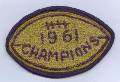 Champion football badge, 1961