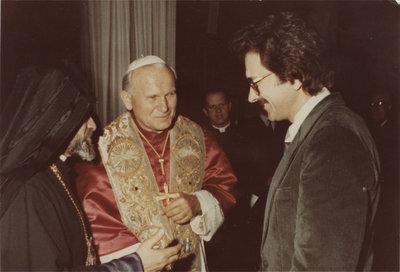 Erich Weingartner with Pope John Paul II