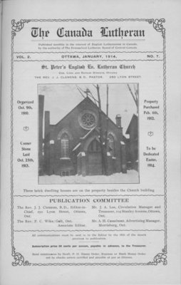 The Canada Lutheran, vol. 2, no. 7, January 1914