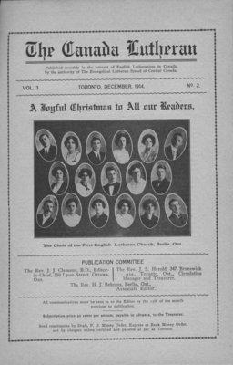 The Canada Lutheran, vol. 3, no. 2, December 1914