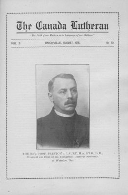 The Canada Lutheran, vol. 3, no. 10, August 1915