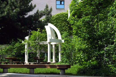 Gazebo in quadrangle at Wilfrid Laurier University