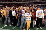 Wilfrid Laurier University fans at 1991 Vanier Cup game