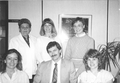 Admissions Office staff, 1986